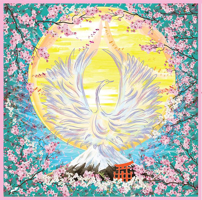 Kanku phoenix cherry blossom