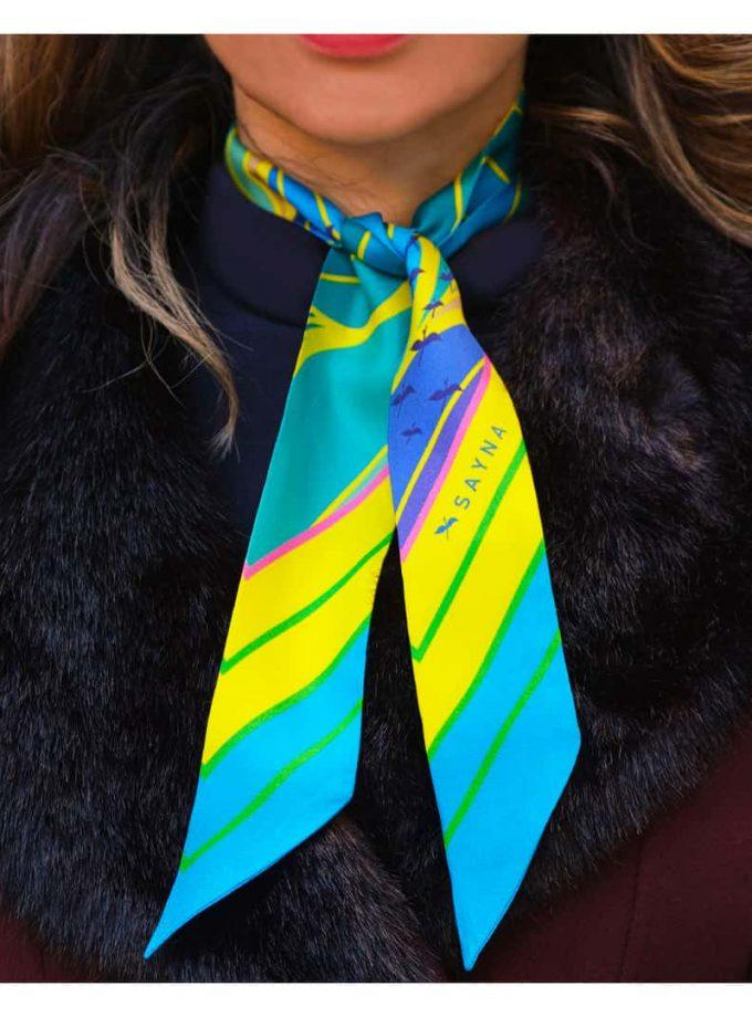 skinny silk scarves
