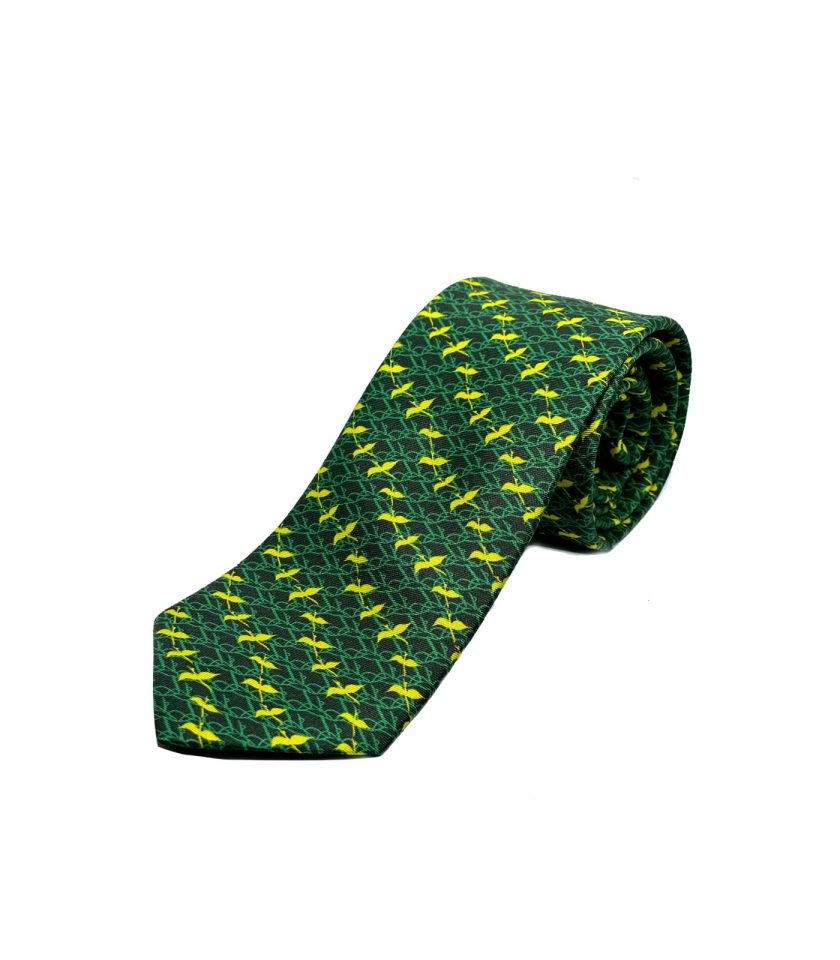 Green Silk Tie for men