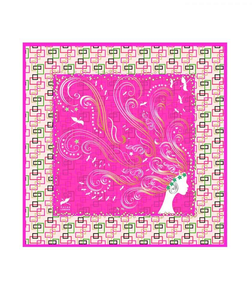 Lady Of Passion Pink square scarf