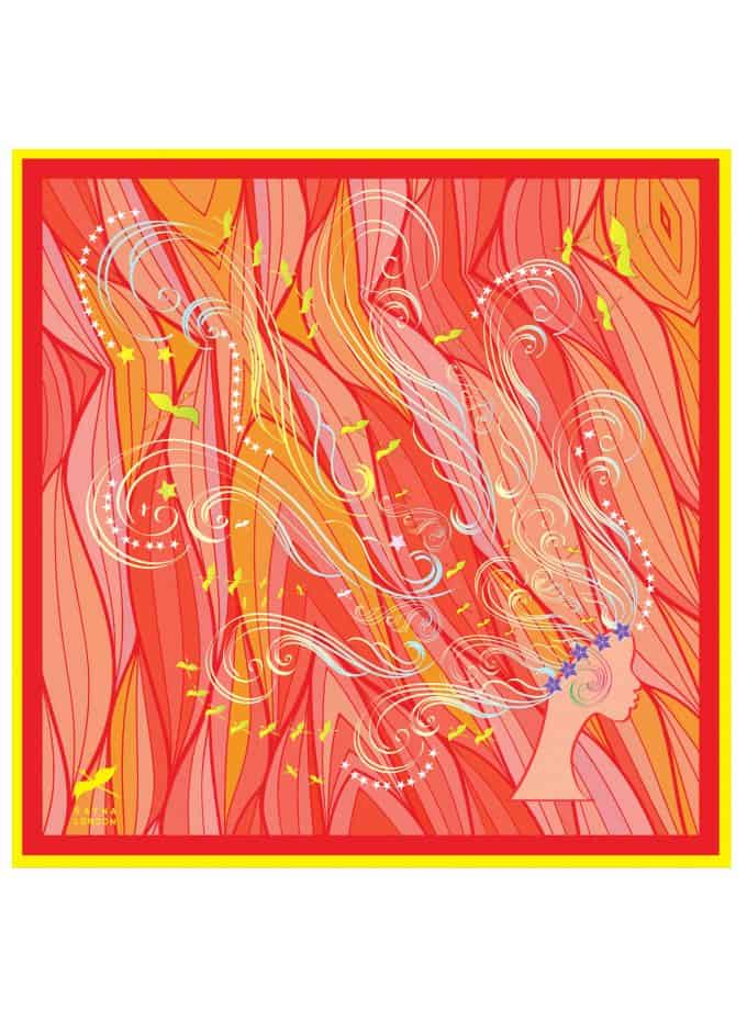 square silk scarf lady of passion