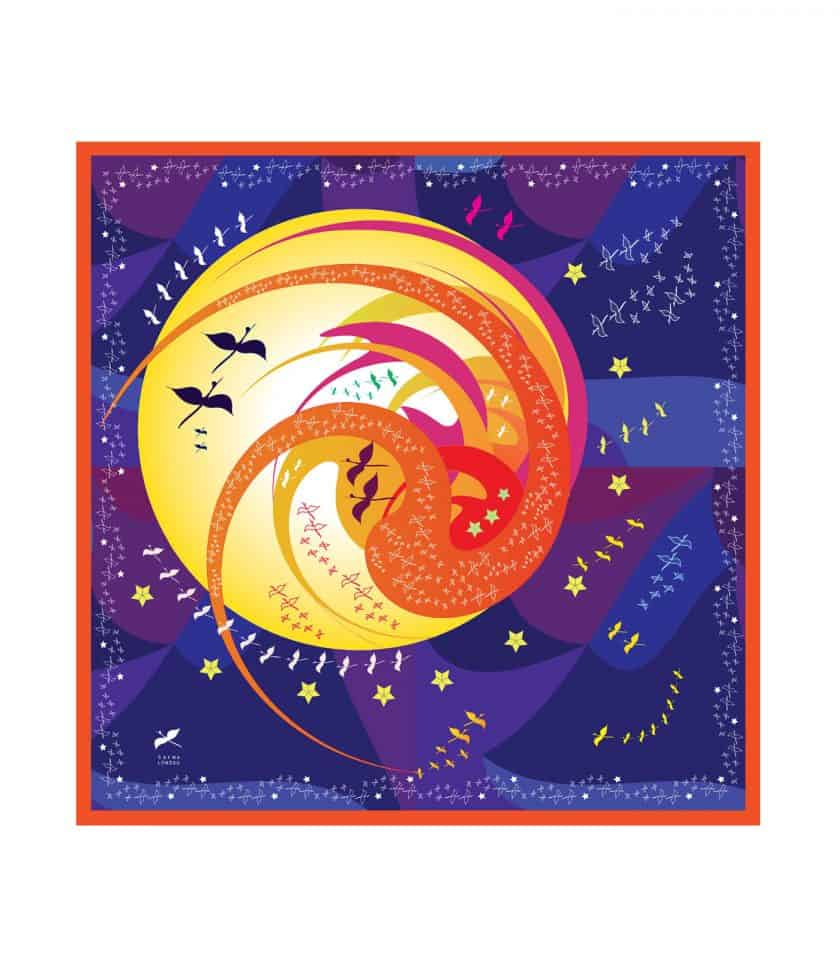 square silk scarf love you to the moon
