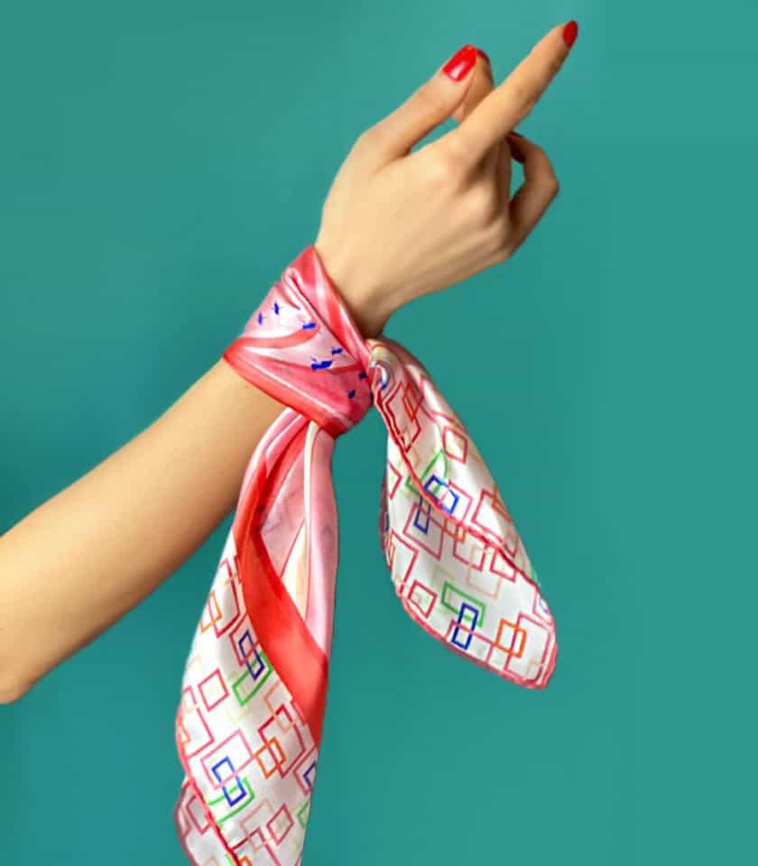 vibrant silk scarf
