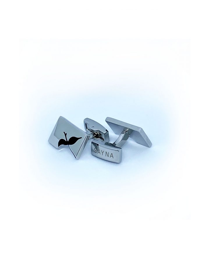 cufflink silver bird