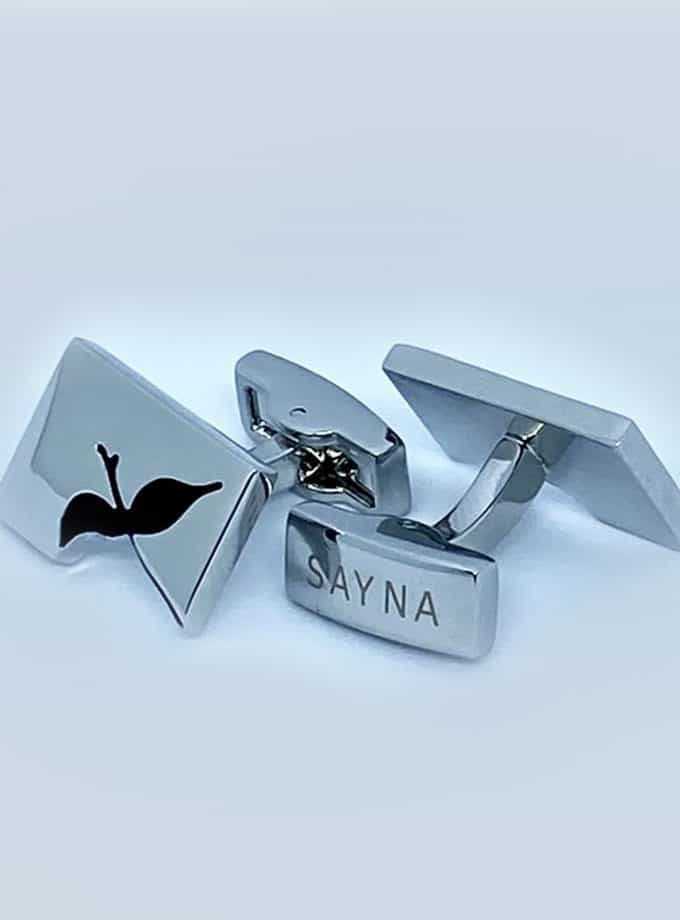 cufflinks solo bird silver
