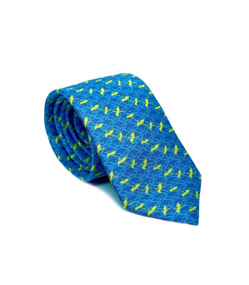 Blue Silk Tie for men