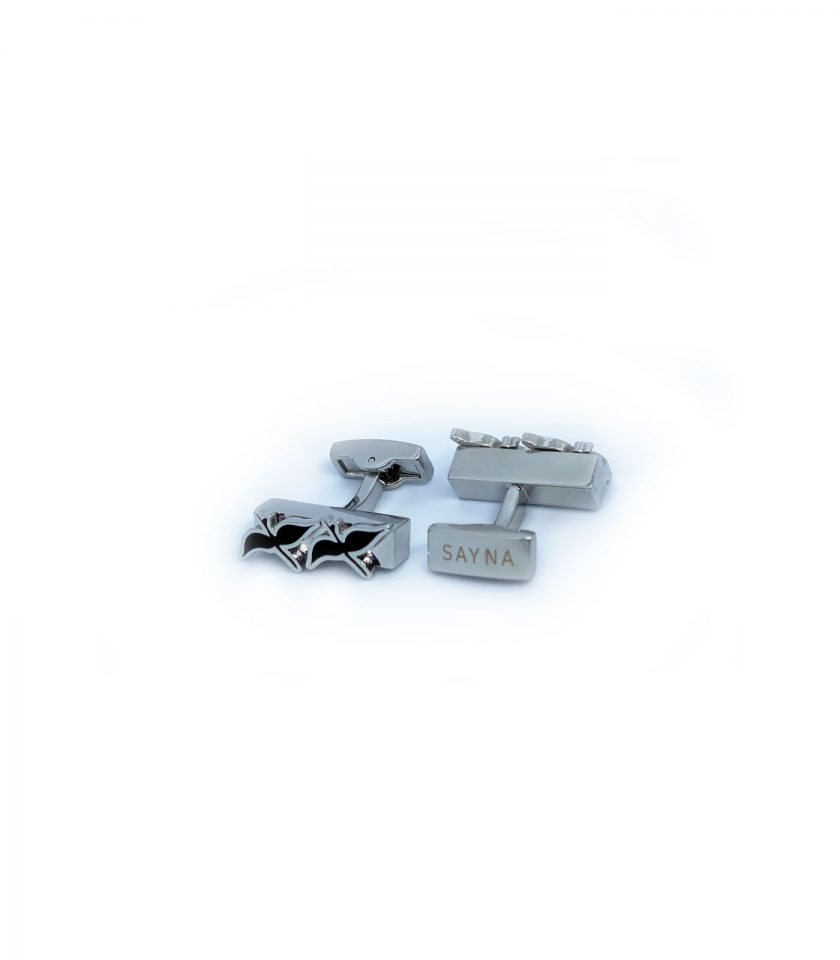 silver cufflinks for men Sayna london migration collection