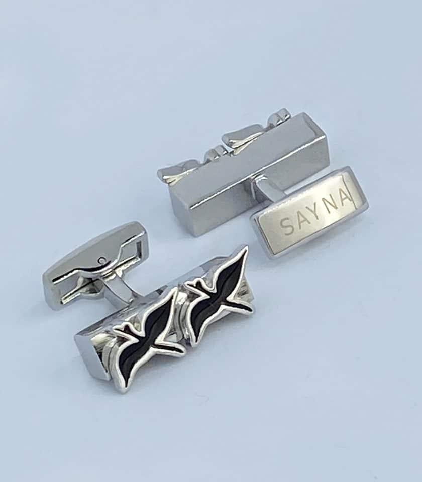 cufflinks double bird silver