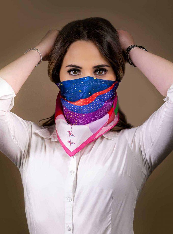 face mask silk scarf