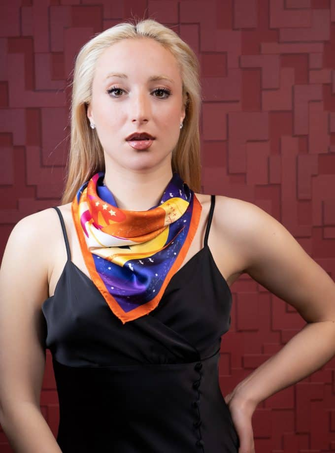 hair and neck silk scarf