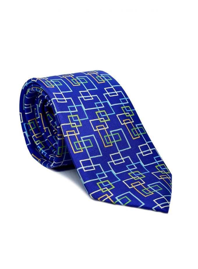 Navy Silk Tie for men