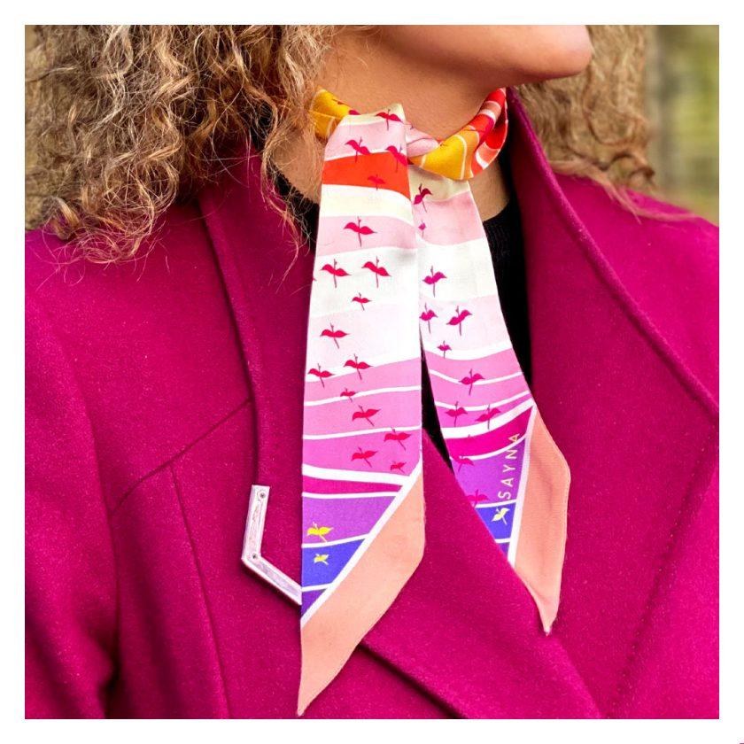 skinny twilly luxury silk scarf
