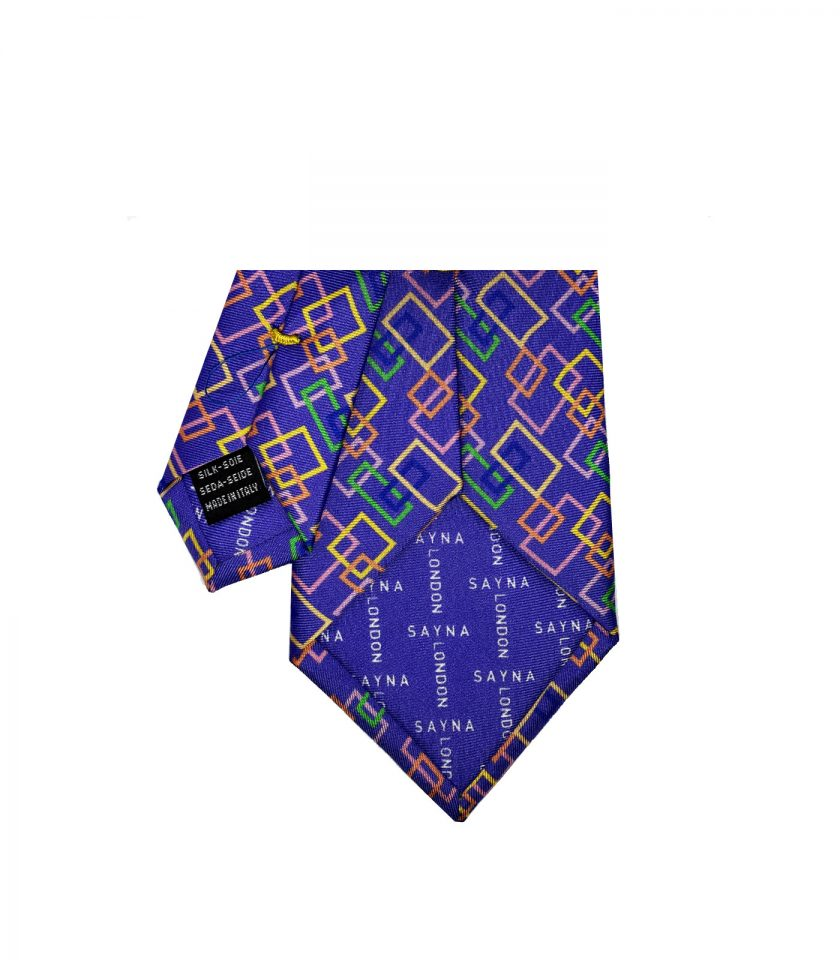 Purple Silk Tie for men