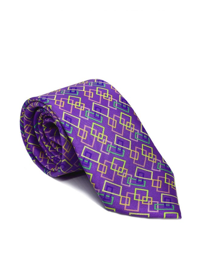 Purple Silk Tie for men