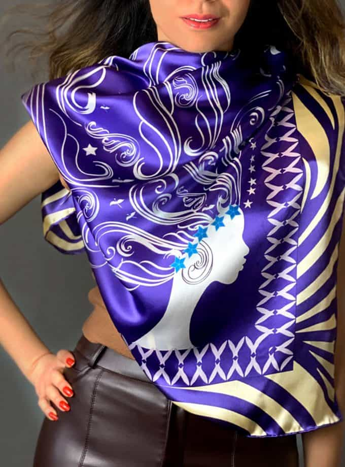 lady of passion square scarves SAYNA LONDON BRITISH LUXURY SILK ACCESSORIES