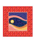 Magic Dream square silk scarf