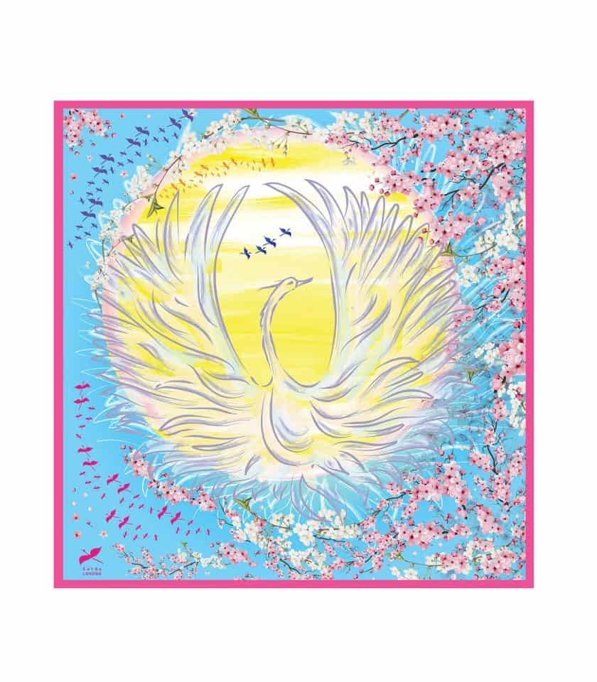Phoenix Rise silk scarf