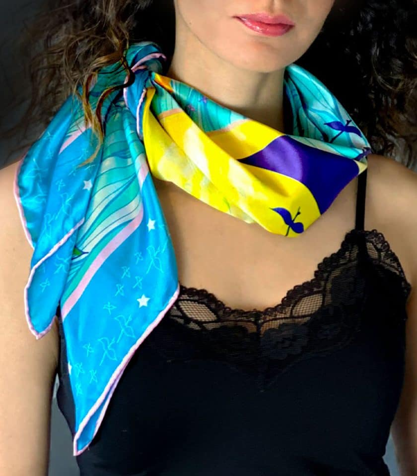 Rising wings square scarves