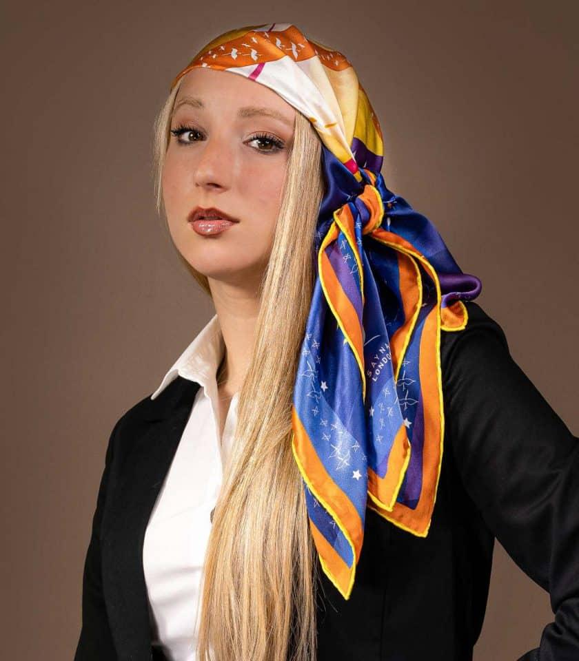luxury silk scarves SAYNA LONDON