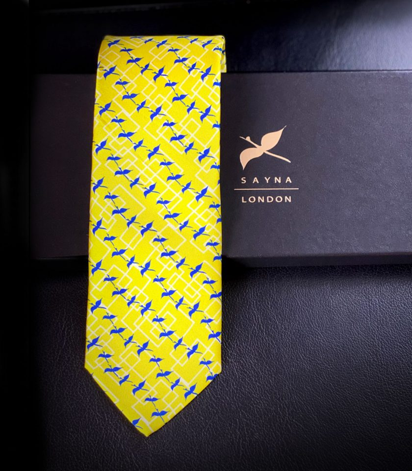 yellow Silk Tie for gentlemen, gift for him, valentins gift, fathers day gift, luxury gift, gift idea