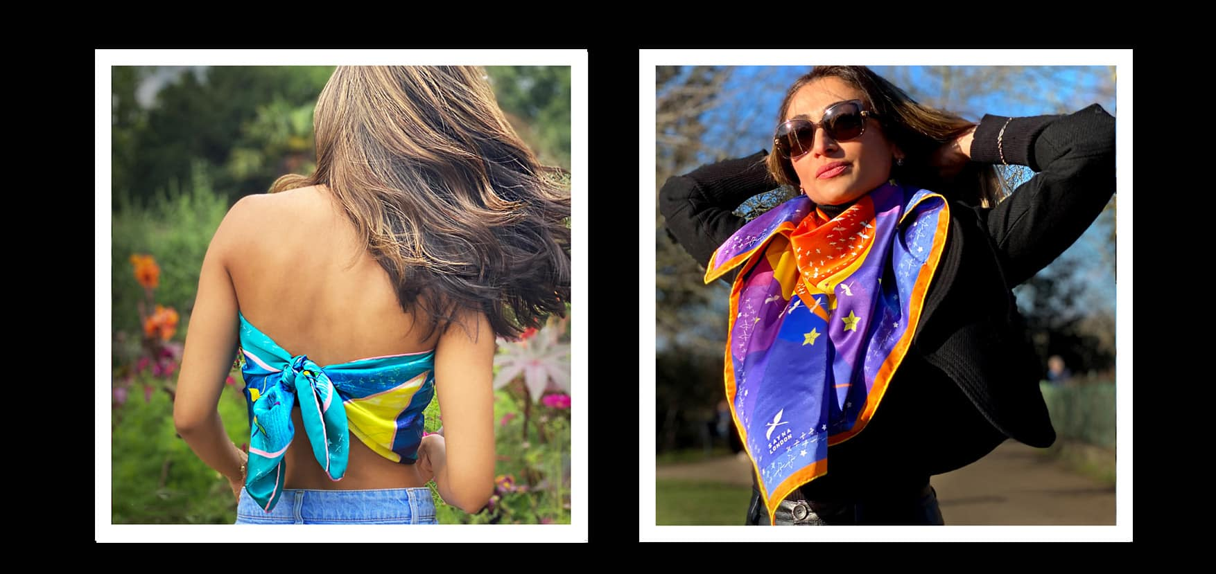 luxury silk scarves london