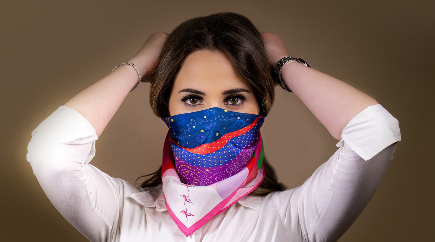 Scarf Mask - luxury facemask silk scarves