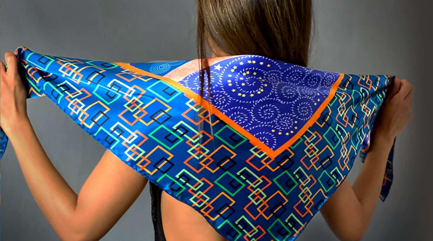 large square silk scarves luxury scarves 1