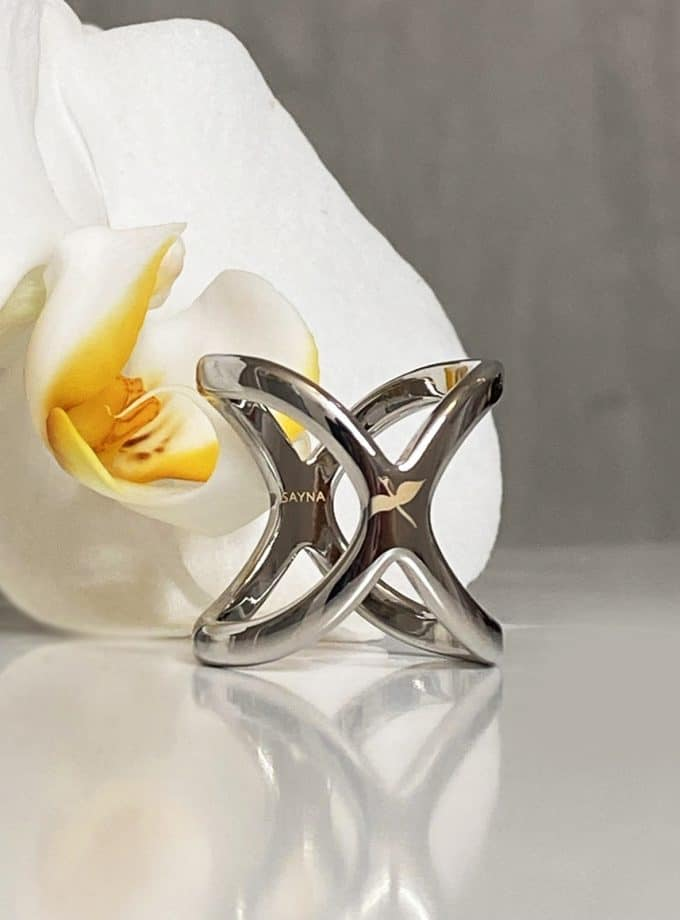 scarf ring silver